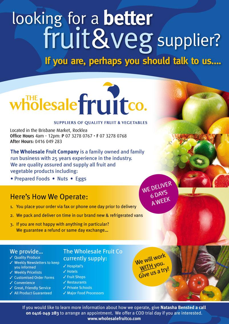 The Wholesale Fruit Co  | Contract Chefs Australia